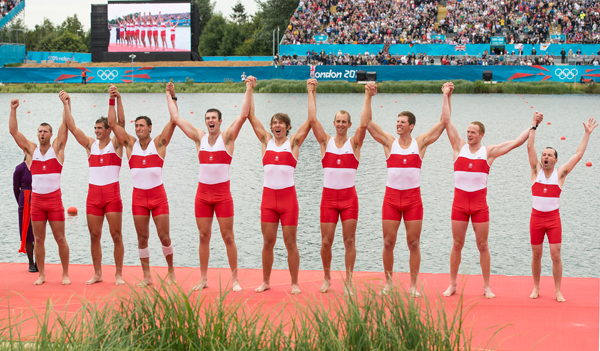 Canadian men's rowing team wins silver medal at London 2012