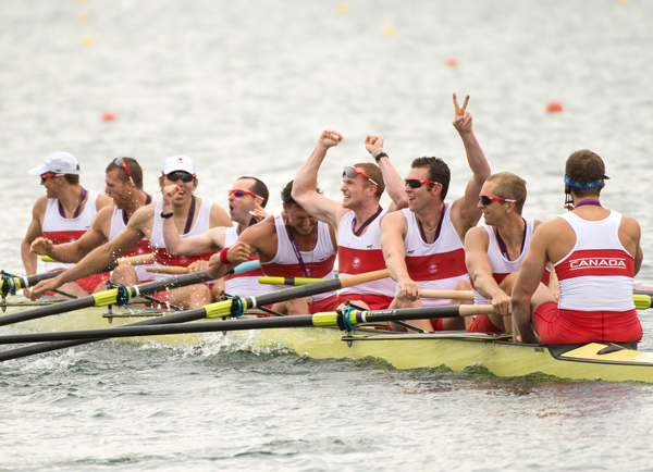 Eight-man Canadian Olympic rowing team 2012