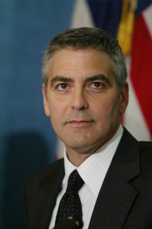 George Clooney at the National Press Club in Washington DC