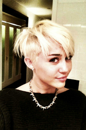 Miley Cyrus Debuts New Pixie Haircut