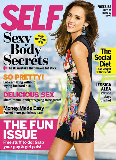 Jessica Alba on Self magazine September 2012
