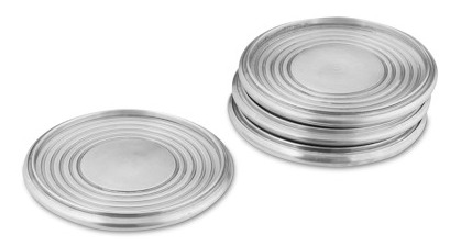 Vintage Silver Coasters from Williams-Sonoma