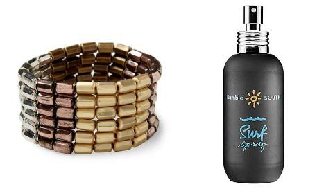 bracelet and surf spray