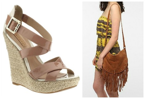 wedges and bag