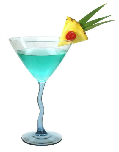 Deep blue sea martini