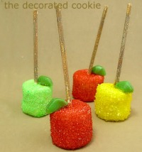 Sprakly apple marshmallow pop