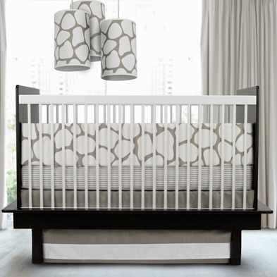 Olio cobblestone crib bedding