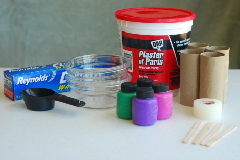 ingredients for diy sidewalk chalk