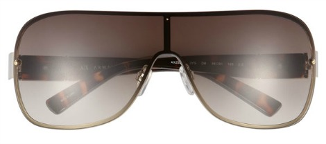 AX Armani Exchange Rimless Shield Sunglasses
