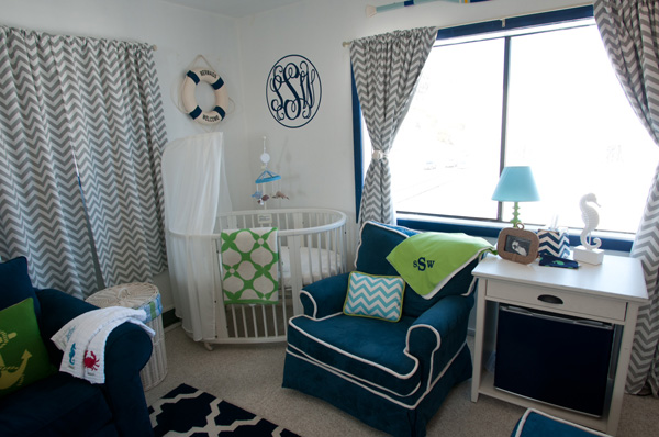 Anya Sarre's nursery for son Sawyer
