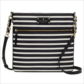 nylon striped Ellen crossbody