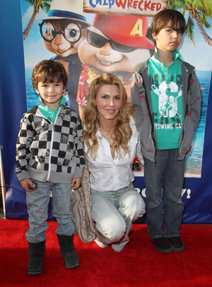 Brandi Glanville and kids Jake and Mason