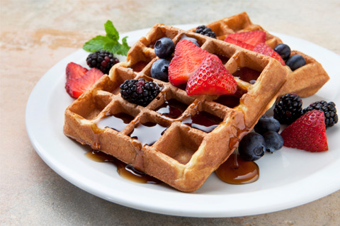 All you have to do is bookmark this page and come back to it whenever you're making waffles – all the side dish ideas are neatly laid out for you. The Best Ideas for What To Serve with Waffles for Breakfast: There's a few ways you can serve up your waffles for breakfast.