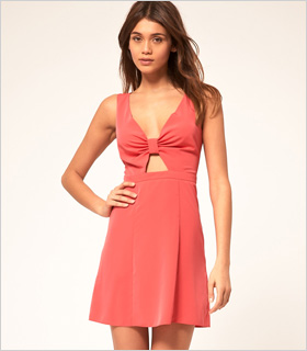 bow front mini dress from ASOS