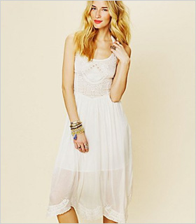 sheer white Free People dress ($120)