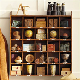 wooden cubby organizer 