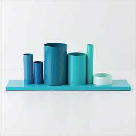 bright blue desktop organizer