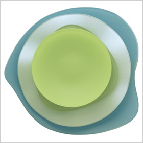 Sea glass dinnerware
