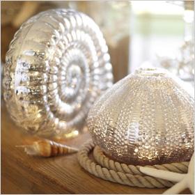 Mercury glass shells