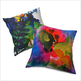 Watercolor pillow from Homegoods