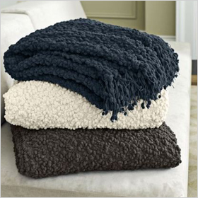 cozy throws from West Elm