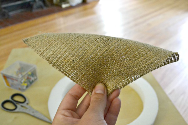 fold burlap