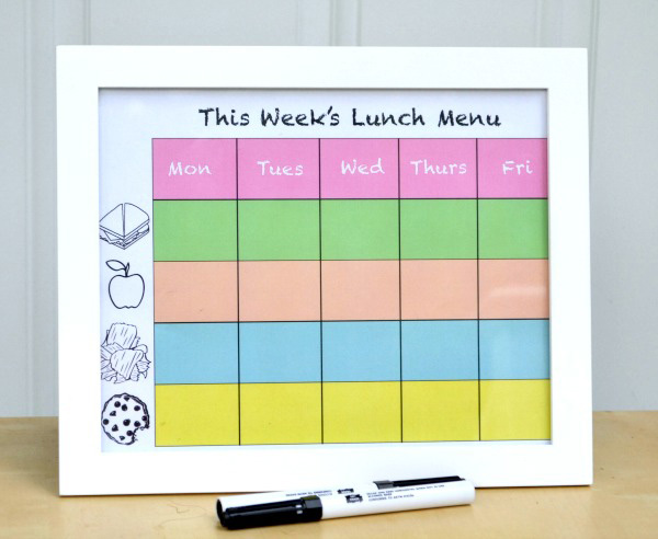 Easy project to help with choosing lunches