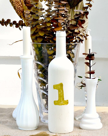 DIY wine bottle number