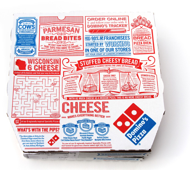 50 percent off Domino's Pizza when you order online