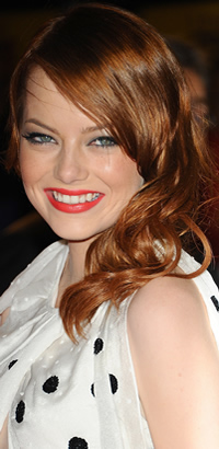 Emma Stone's red hairstyle