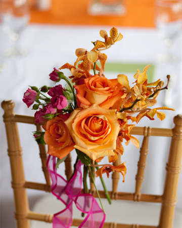 Tangerine Tango wedding trend