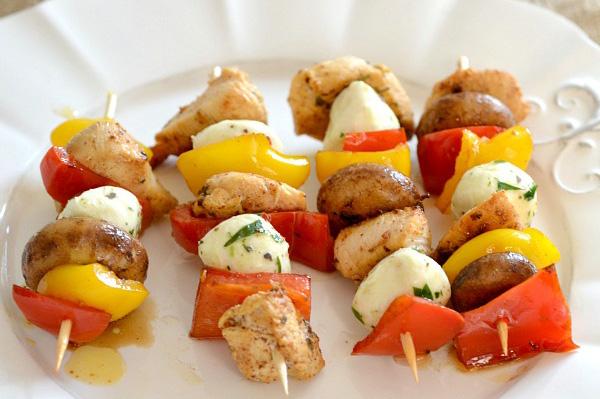 Lemon & rosemary chicken kebobs