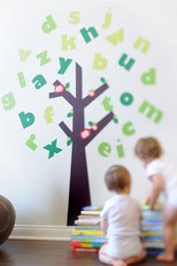Artsy, interactive decor for kids