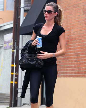 Gisele Bundchen leaving gym