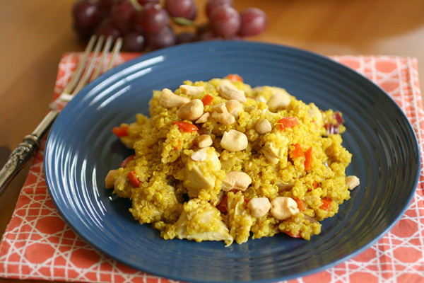 Chicken and curried quinoa salad