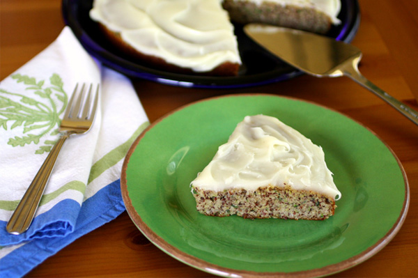 Gluten-free Goodie of the Week: Zucchini-almond cake with cream cheese frosting