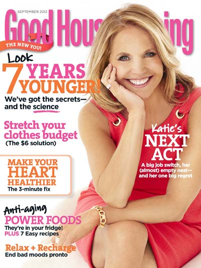 Katie Couric Good Housekeeping September 2012