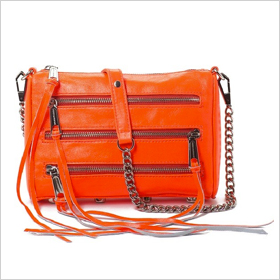 Rebecca Minkoff neon clutch