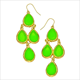 electric green neon earrings