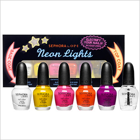 Sephora by OPI neon lights mini set 