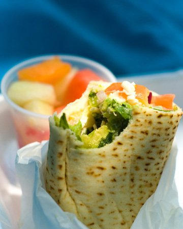 Healthy wrap sandwich