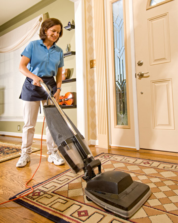 Housekeeper with vacuum