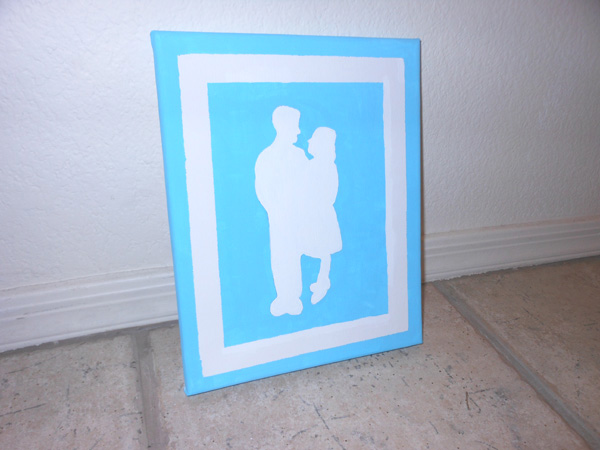 How to make a silhouette painting