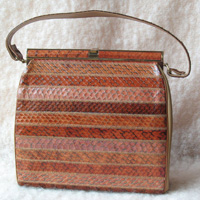 My choice: Vintage Structured Snakeskin Purse (Etsy, $25)