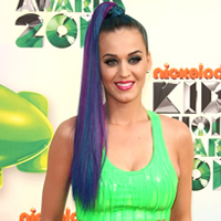 Katy Perry's colorful ponytail
