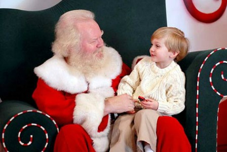 Child on Santa's lap