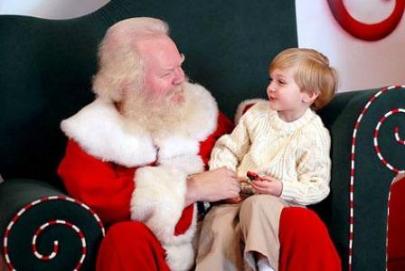 Child on Santa's lap