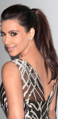 Kim Kardashian ponytail hairstyle