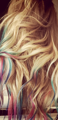 Lauren Conrad's rainbow hairstyle idea