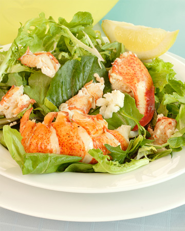 Lobster tail salad